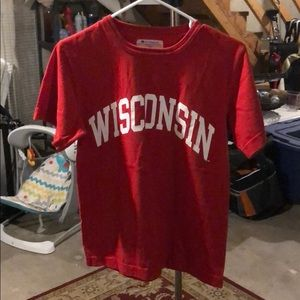Champion brand University of Wisconsin t-shirt (s)